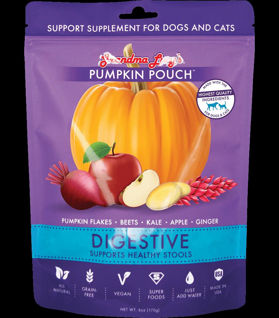 Grandma Lucy's Pumpkin Pouch Digestive Dog & Cat Supplement, 6-oz