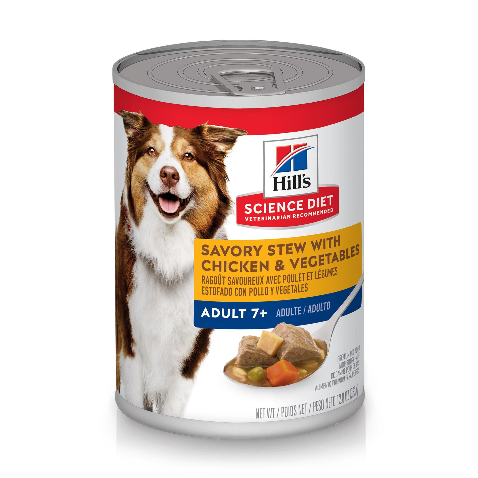 Hill's Science Diet Adult 7+ Savory Stew with Chicken & Vegetables Canned Dog Food, 12.8-oz