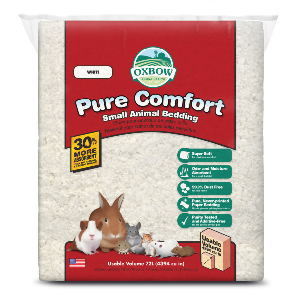 Oxbow Pure Comfort Small Animal Bedding, White, 72-L
