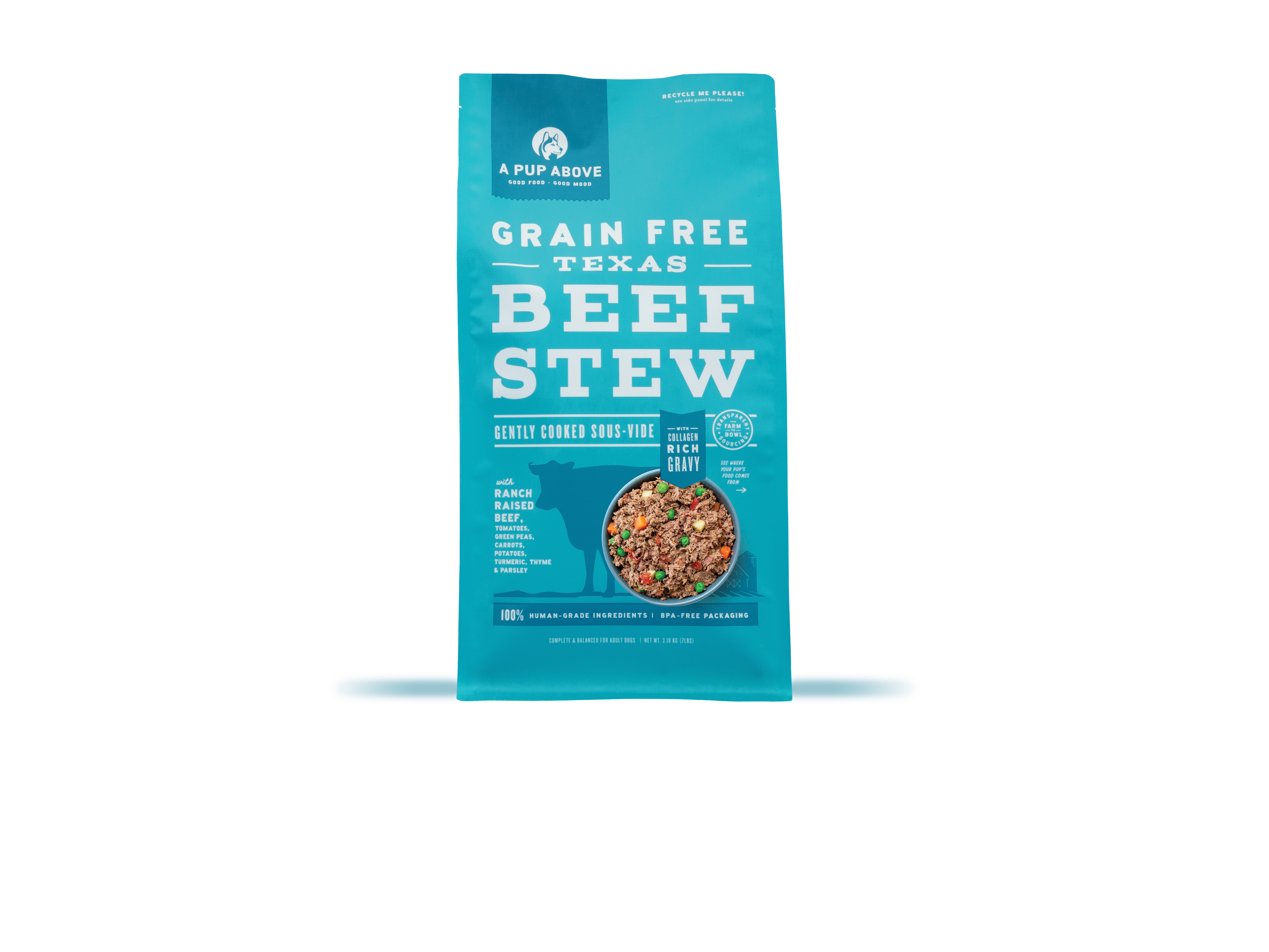 A Pup Above Texas Beef Stew Grain-Free Dog Food, 7-lb