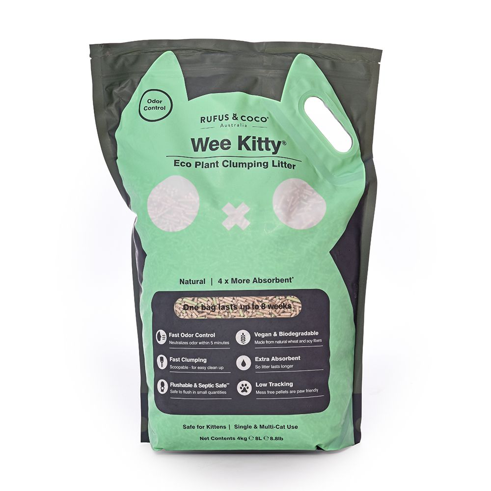 Rufus & Coco Wee Kitty Eco Plant Clumping Litter, 20-lb bag