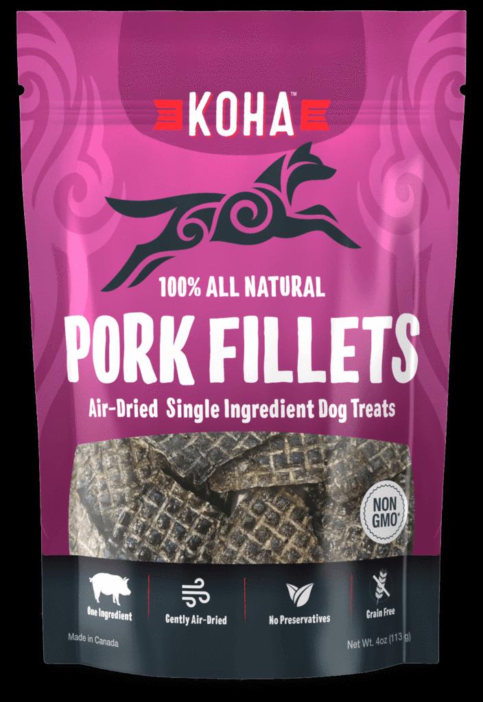 Koha Pork Liver Air-Dried Dog Treats, 4-oz