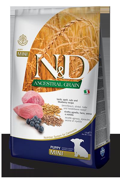 Farmina N&D Ancestral Grain Lamb & Blueberry Puppy Mini Dog Dry Food Image