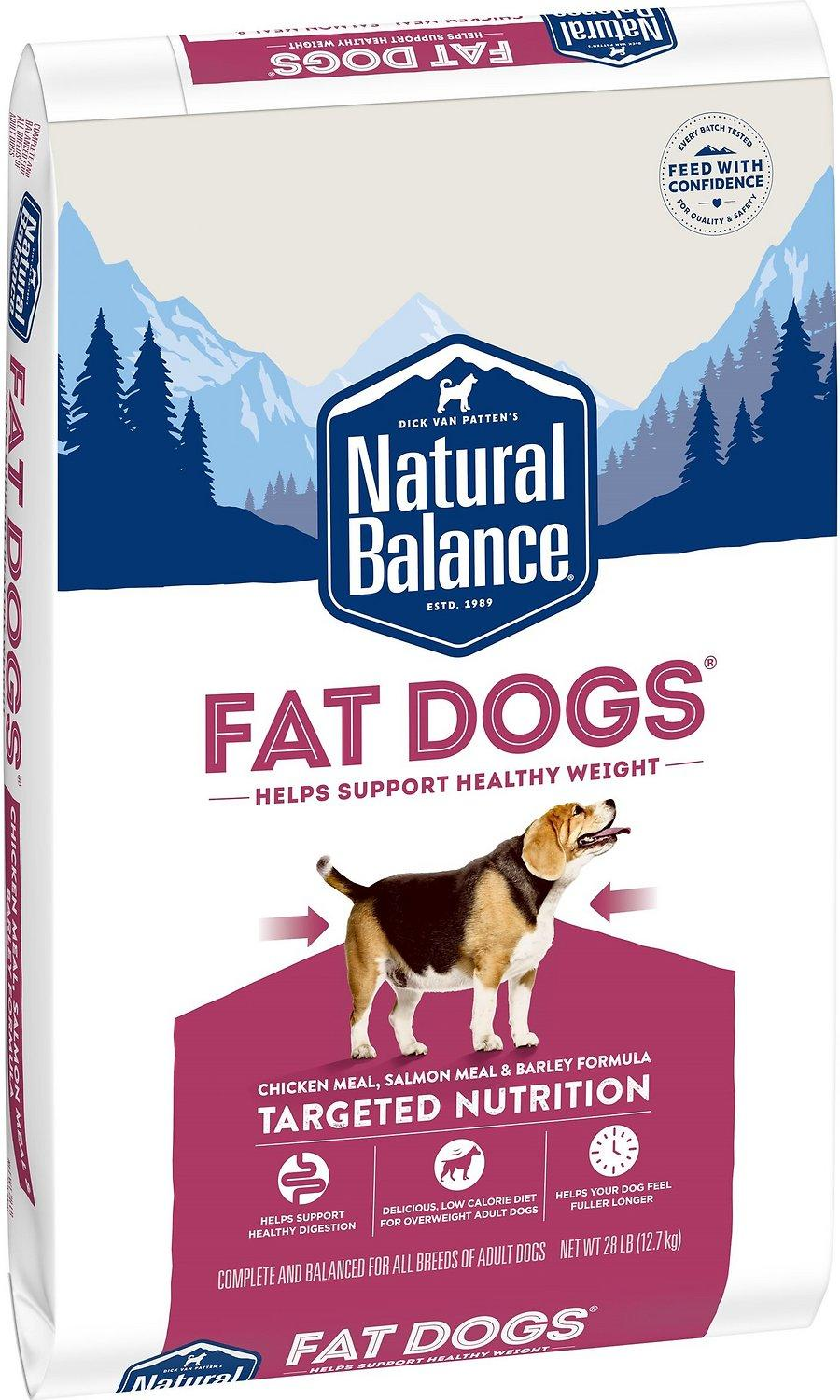 Natural Balance Fat Dogs Chicken & Salmon Formula Low Calorie Dry Dog Food, 28-lb bag