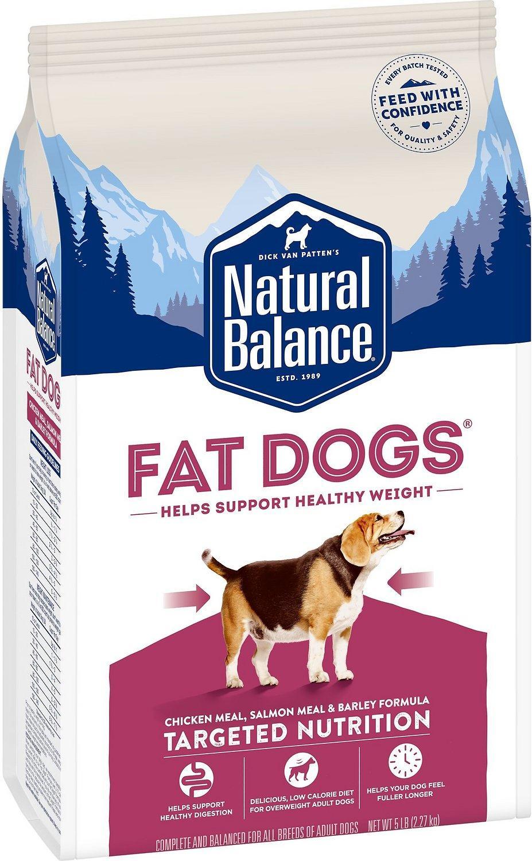 Natural Balance Fat Dogs Chicken & Salmon Formula Low Calorie Dry Dog Food, 5-lb bag