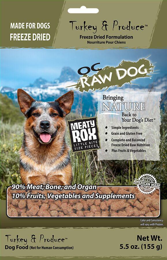 OC Raw Dog Turkey & Produce Meaty Rox Freeze-Dried Dog Food, 5.5-oz