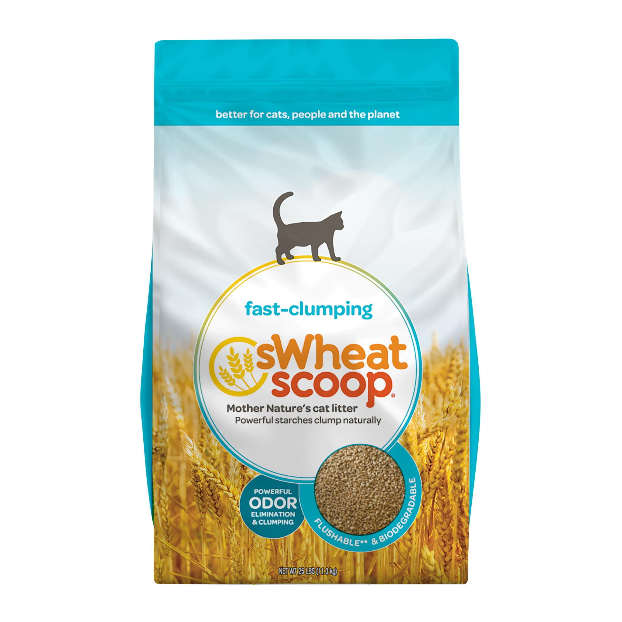 sWheat Scoop Natural Fast-Clumping Wheat Cat Litter, 25-lb