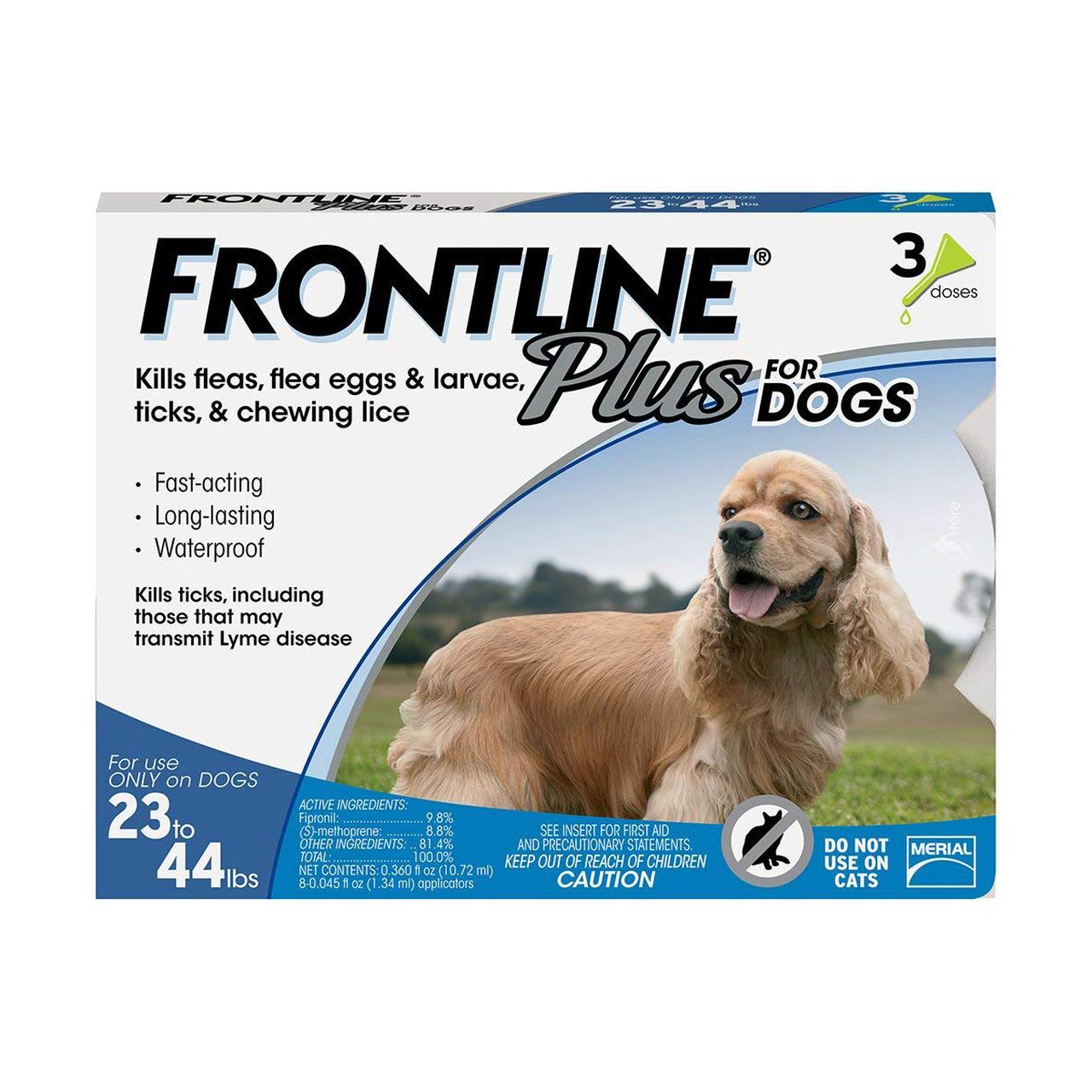 FRONTLINE Plus Flea & Tick Treatment for Medium Dogs (23-44 pounds)