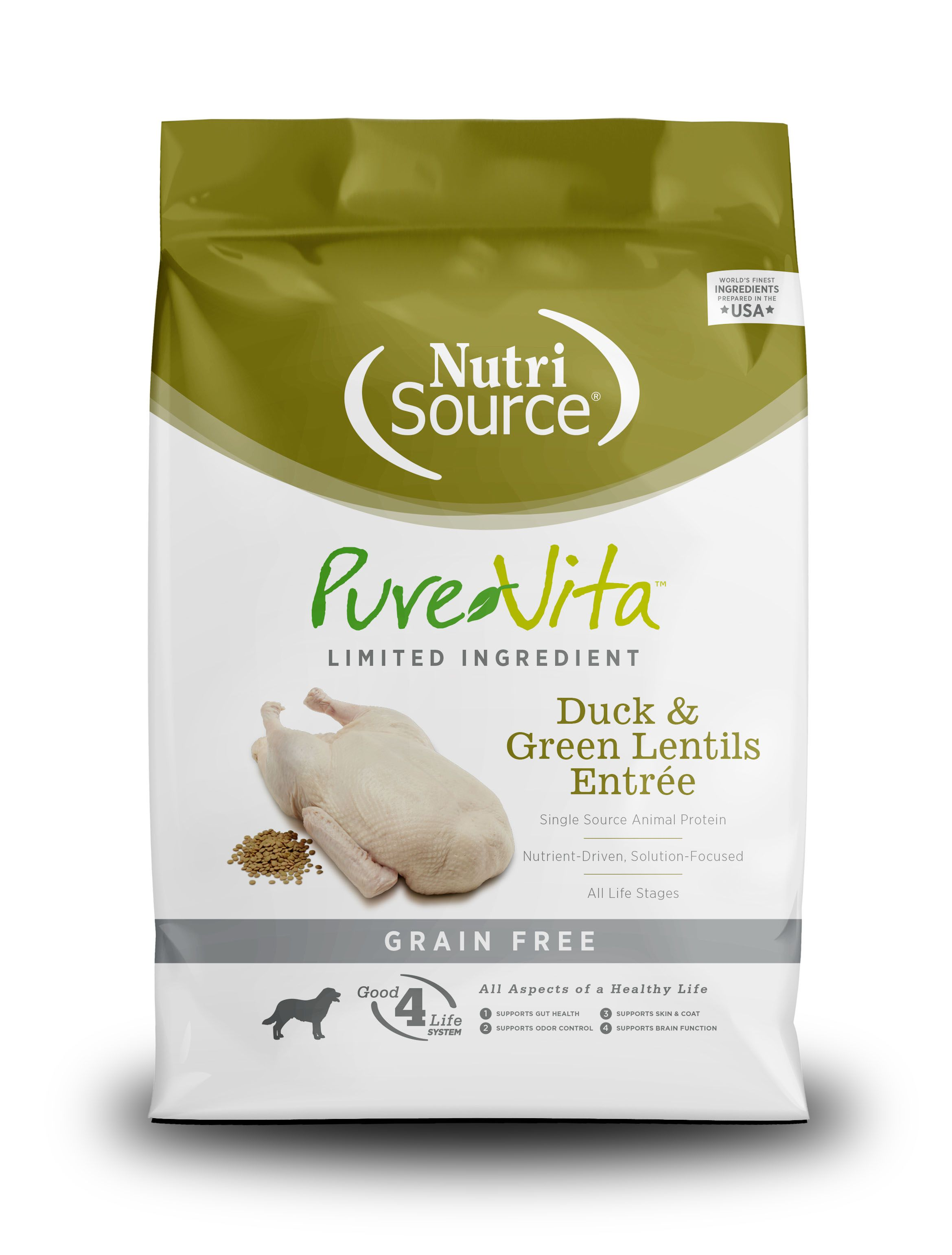PureVita Grain Free Duck & Green Lentils Recipe Dry Dog Food Image