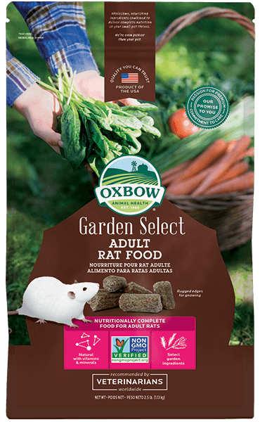 Oxbow Garden Select Adult Rat Food, 2.5-lb bag