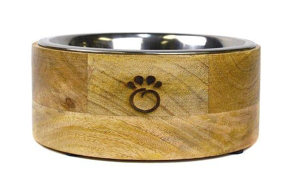 GF Pet Wood Bowl, Small