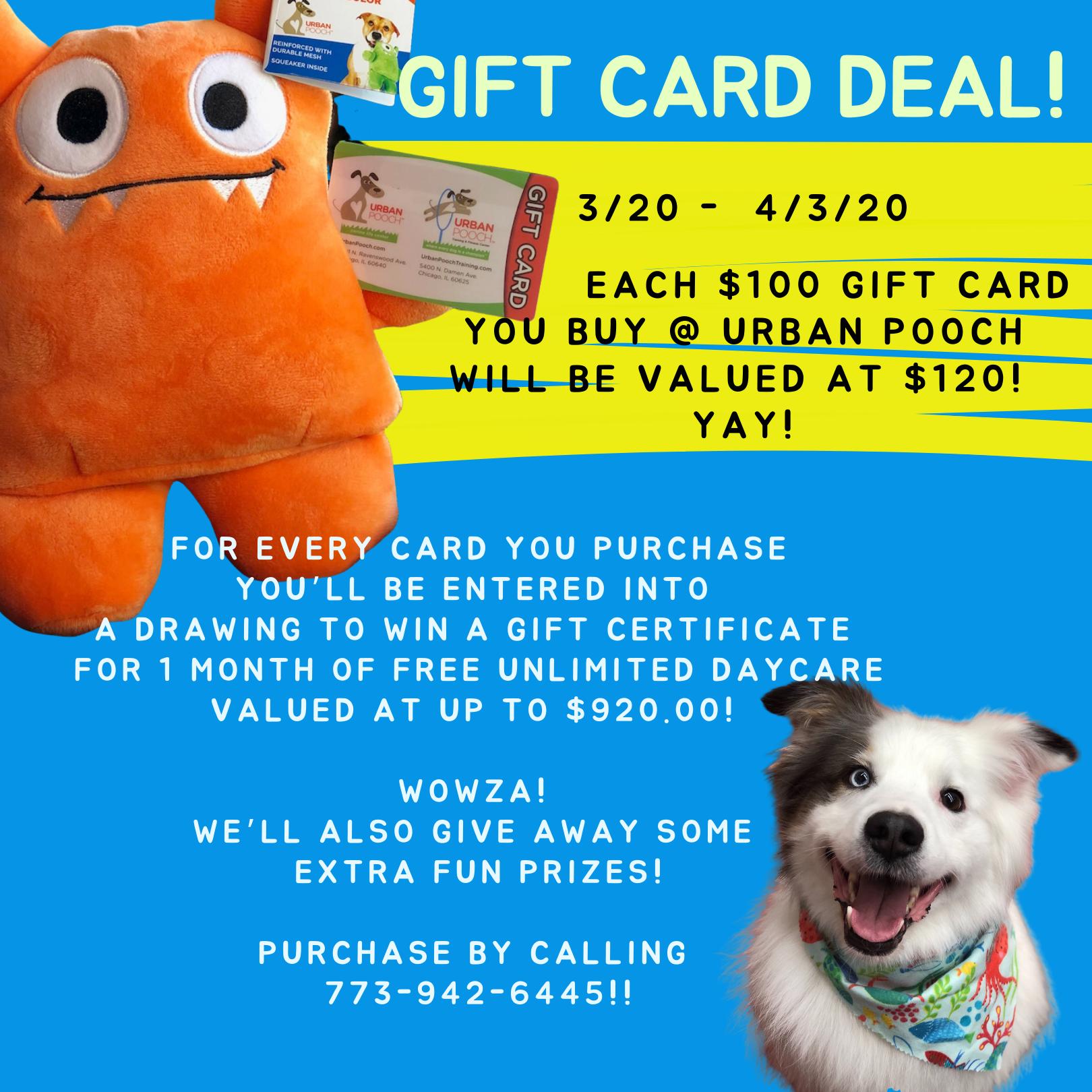 Urban Pooch Gift Card, $100