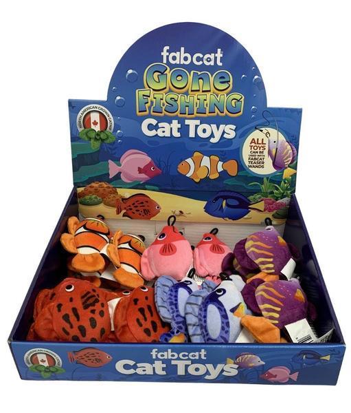 fabdog fabcat Gone Fishing Cat Toy, Assorted
