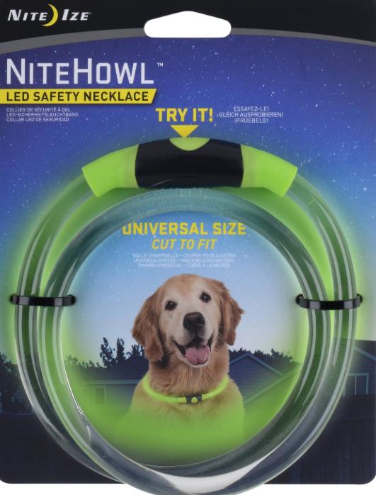 Nite Ize NiteHowl LED Safety Dog Necklace, Green