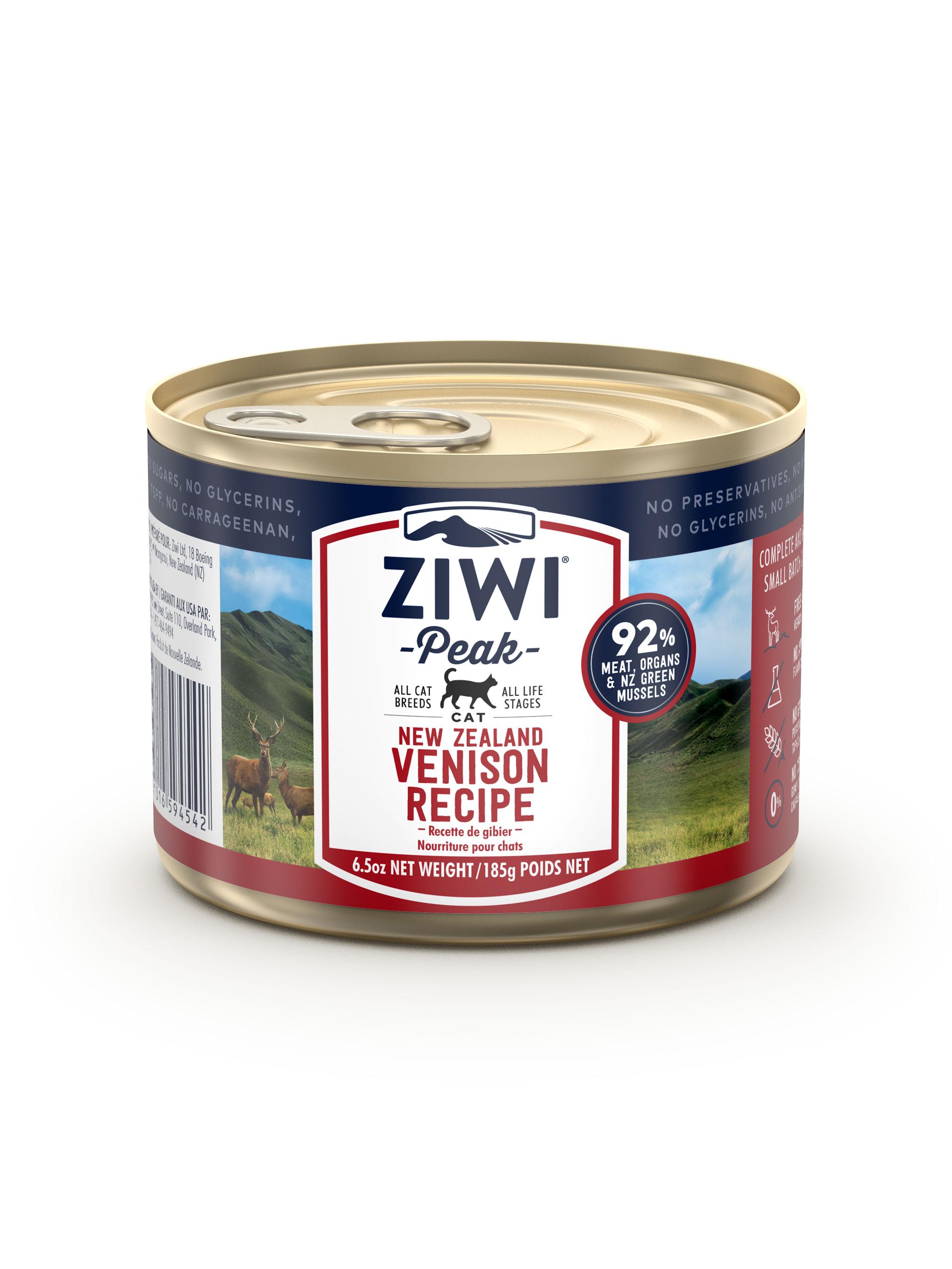 Ziwi Peak Cat Venison Recipe Canned Cat Food, 6.5-oz