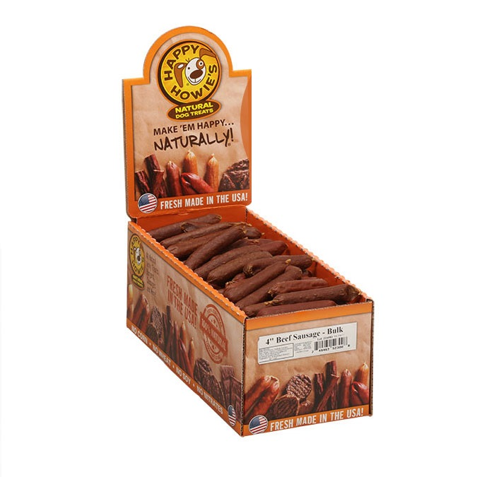 Happy Howie's Beef Sausage Dog Treat, 4-in, 1-count (Size: 4-in, 1-count) Image