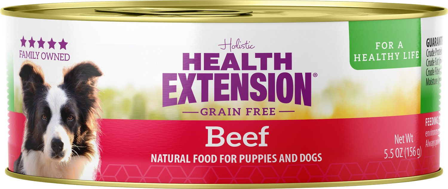 Health Extension Meaty Mix Beef Grain-Free Canned Dog Food, 5.5-oz