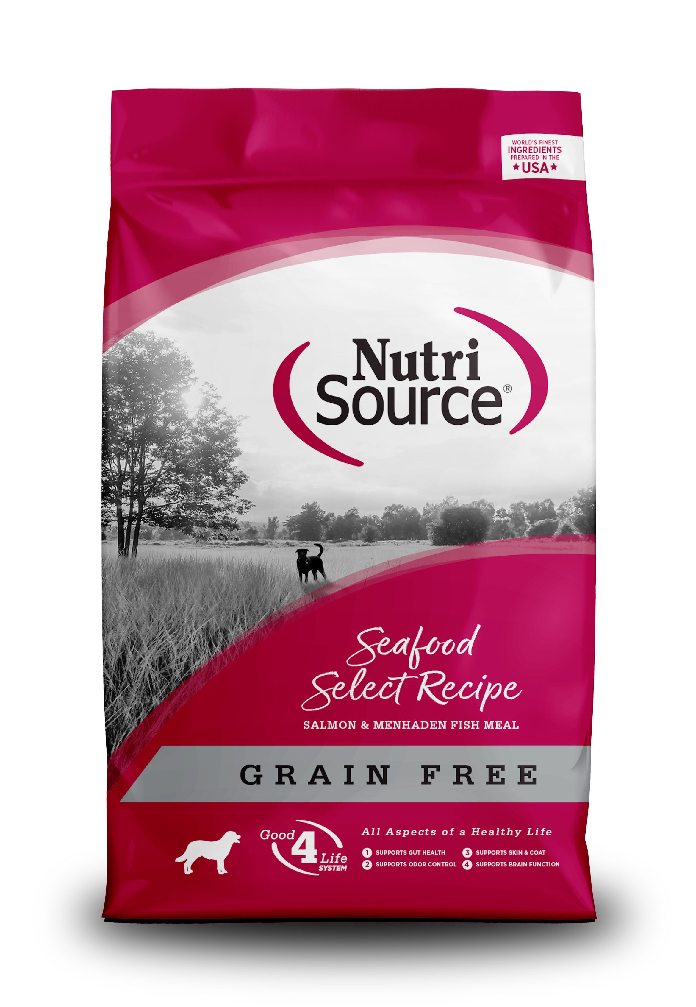 NutriSource Grain Free Seafood Select with Salmon Dry Dog Food, 5-lb