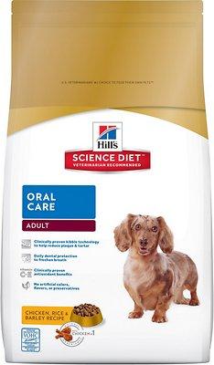 Hill's Science Diet Adult Oral Care Dry Dog Food, 4-lb bag