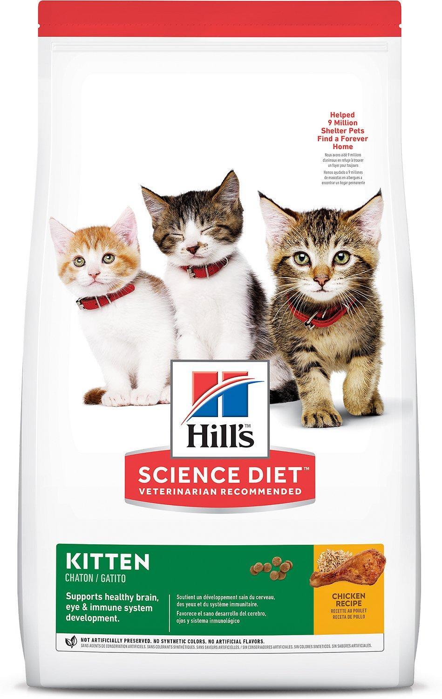 Hill's Science Diet Kitten Healthy Development Chicken Recipe Dry Cat Food, 3.5-lb bag