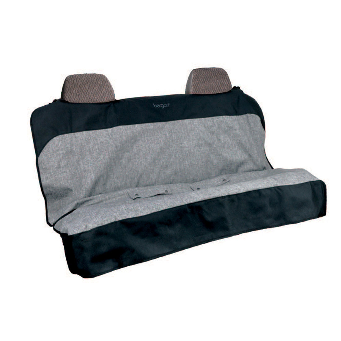 Bergan Auto Bench Seat Protector, Grey/Black, 47-in x 55-in