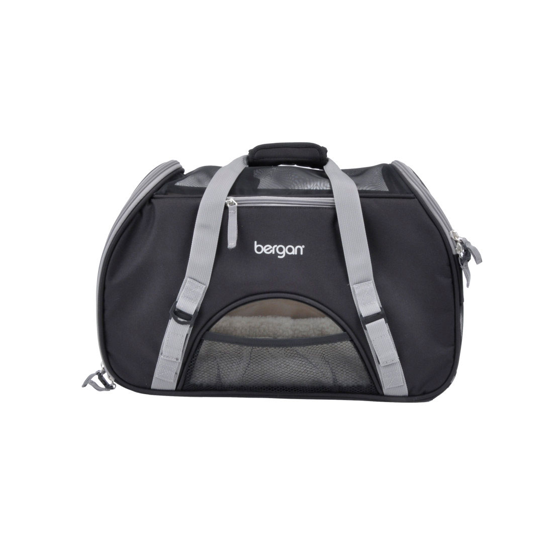 Bergan Comfort Pet Carrier, Black/Grey Image