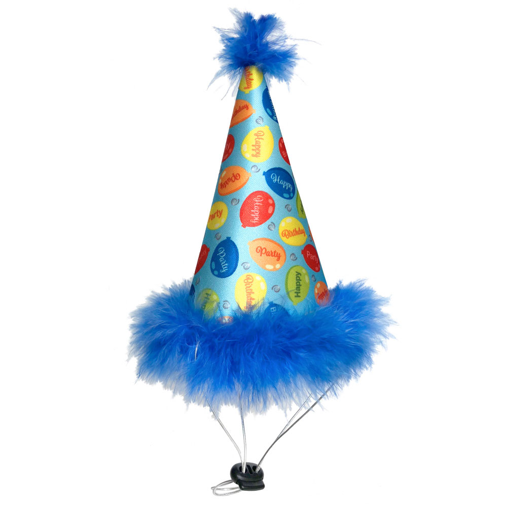 Huxley & Kent Party Time Dog Hat, Blue, Small