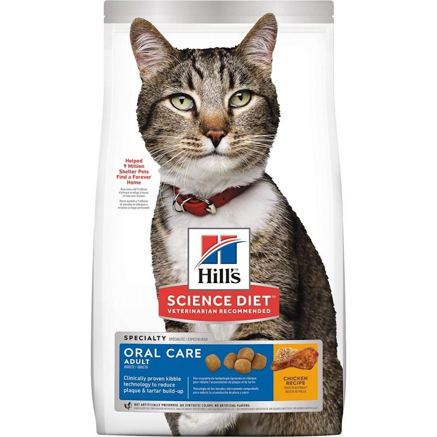 Hill's Science Diet Adult Oral Care Dry Cat Food, 3.5-lb bag