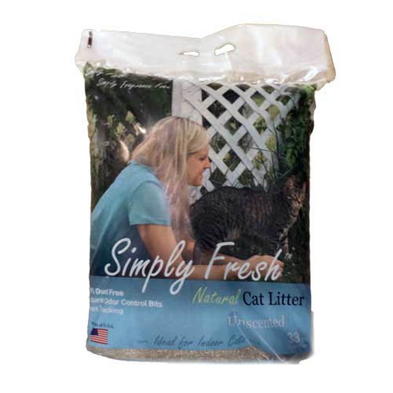 Simply Fresh Natural Clumping Unscented Cat Litter, 15-lb