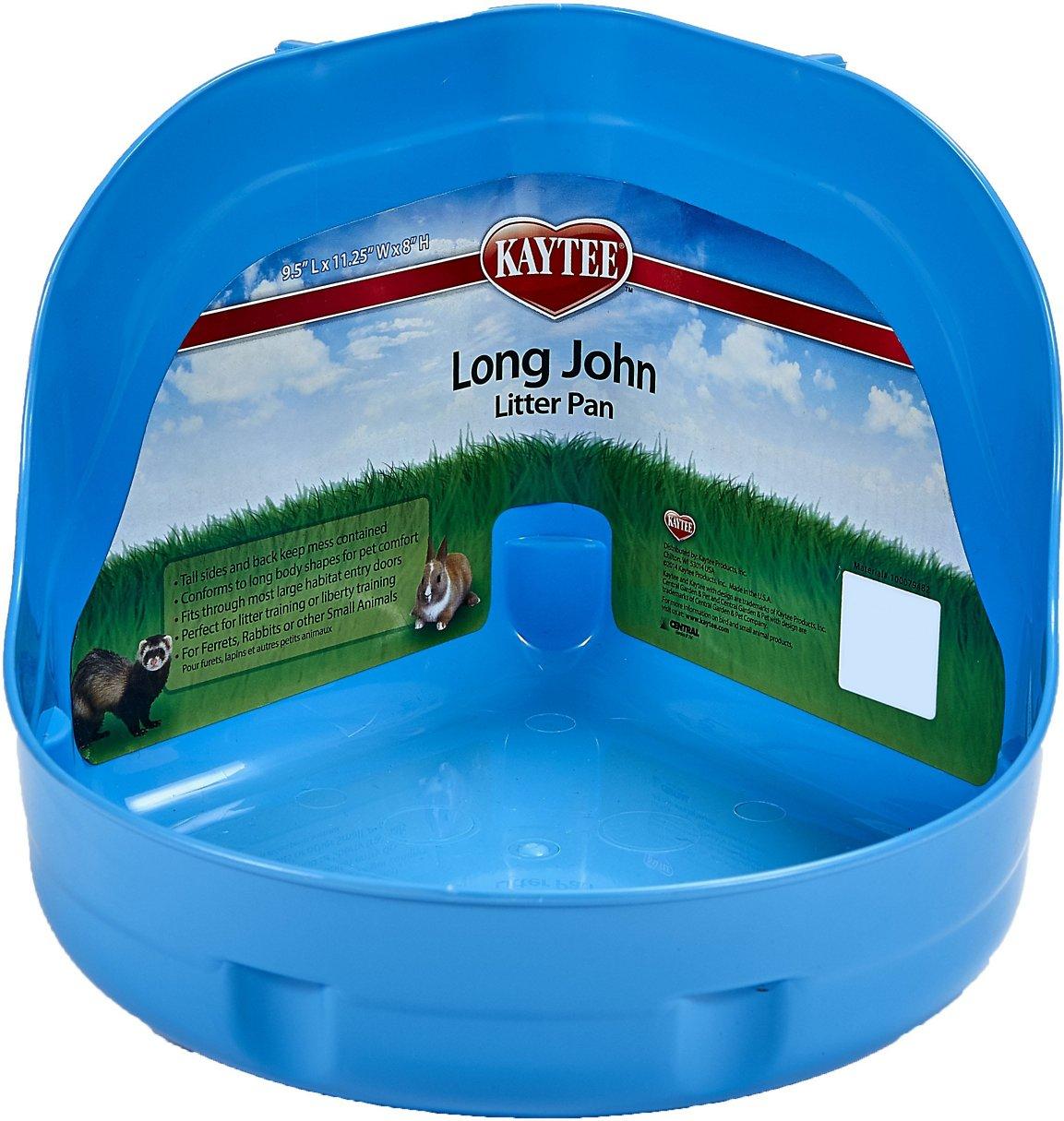 Kaytee Long John Small Pet Litter Pan, Color Varies