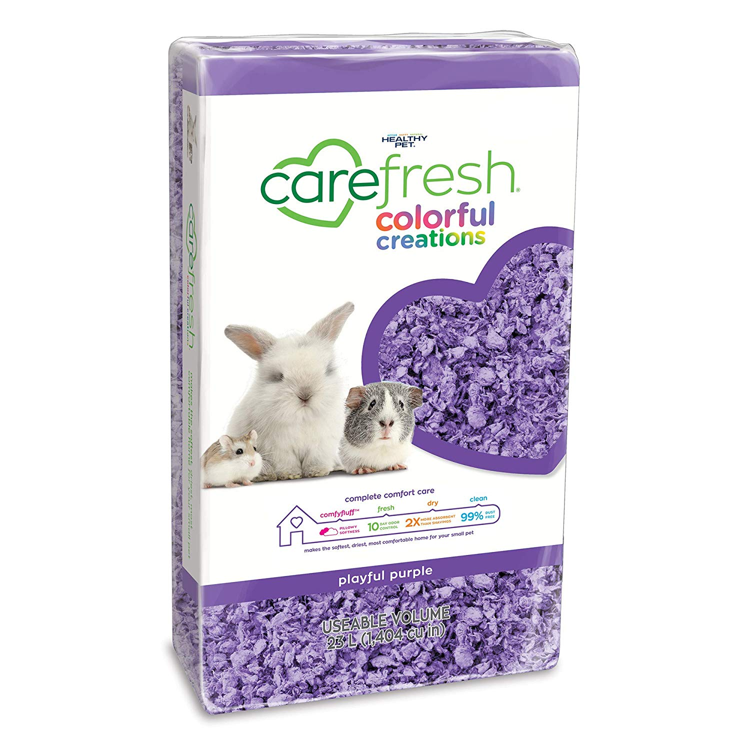 CareFresh Colorful Creations Small Animal Bedding, Purple, 23-L (Size: 23-L) Image