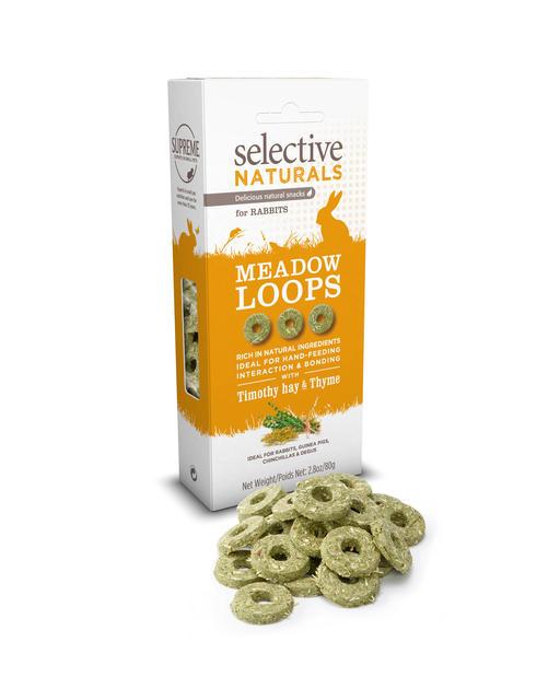 Supreme Petfoods Selective Naturals Meadow Loops Rabbit Treats, 2.8-oz