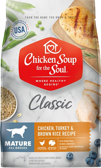 Chicken Soup for the Soul Mature Dry Dog Food, 28-lb
