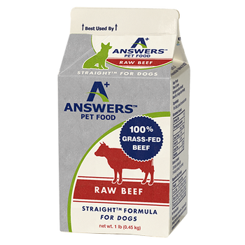 Answers Straight Beef Formula Raw Dog Food, 1-lb