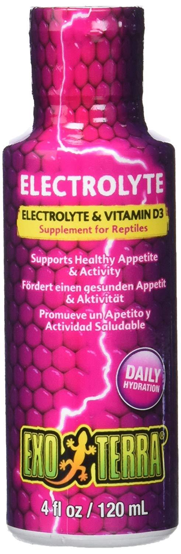 Exo Terra Electrolyte & Vitamin D3 Reptile Supplement, 4-fl-oz
