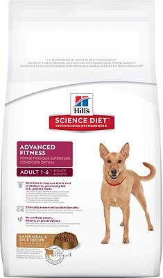 Hill's Science Diet Adult Advanced Fitness Lamb Meal & Rice Dry Dog Food, 15.5-lb bag