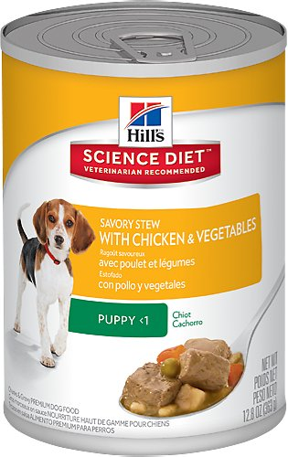 Hill's Science Diet Puppy Savory Stew with Chicken & Vegetables Canned Dog Food, 12.8-oz