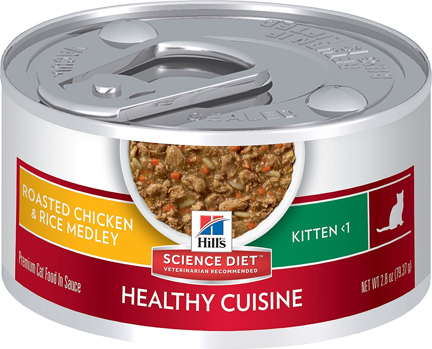 Hill's Science Diet Kitten Healthy Cuisine Roasted Chicken & Rice Medley Canned Cat Food Image