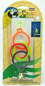 Penn-Plax Olympic Rings with Bell Bird Toy