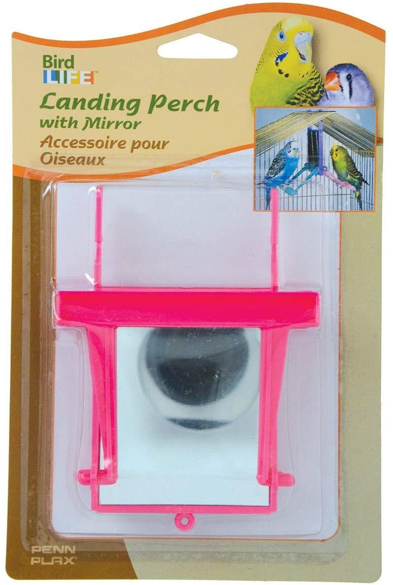 Penn-Plax Landing Perch with Mirror for Birds