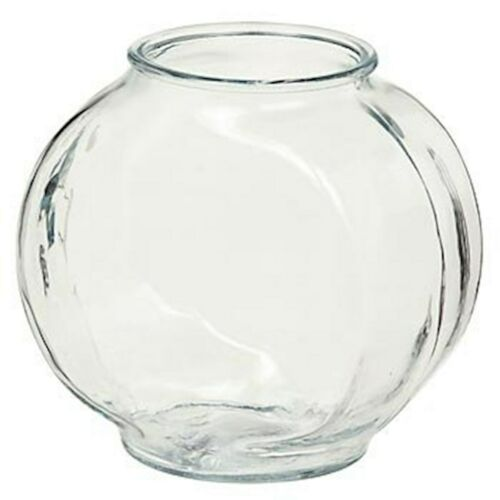 Anchor Hocking Drum Glass Golfish Bowl, 1/2-gallon