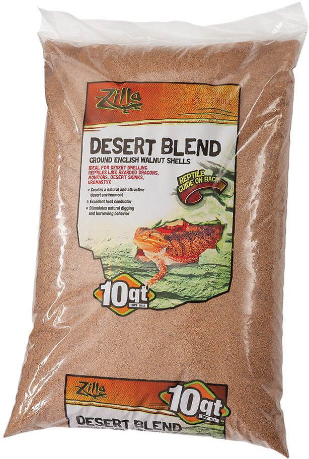 Zilla Ground English Walnut Shell Reptile Bedding, 10-qt