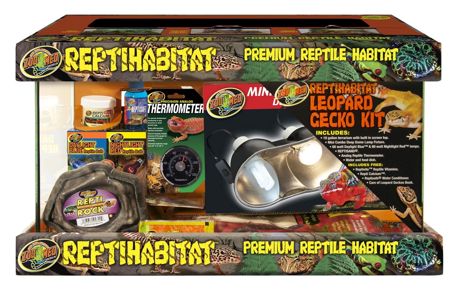 Zoo Med Reptihabitat Premium Reptile Habitat Leopard Gecko Kit, 10-gallon