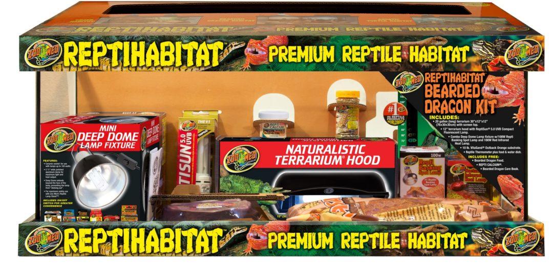 Zoo Med Reptihabitat Premium Reptile Habitat Bearded Dragon Kit, 20-gallon