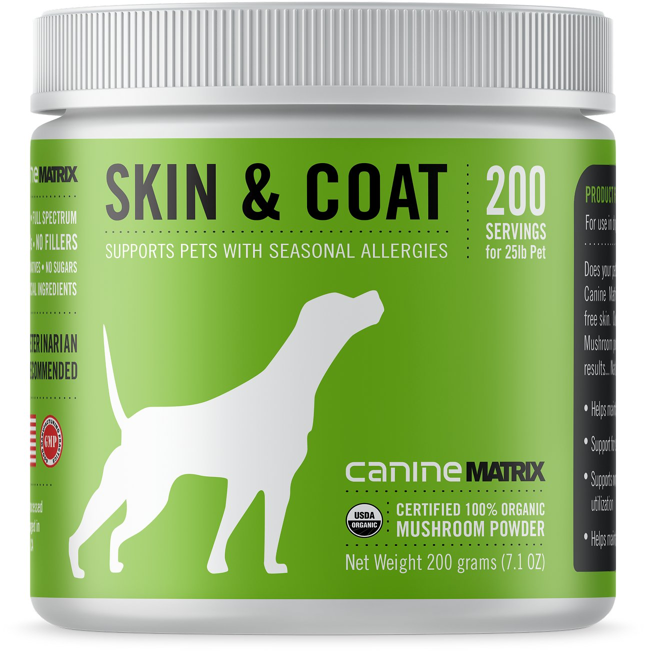 Canine Matrix Skin & Coat Seasonal Allergies Dog Supplement, 200-g