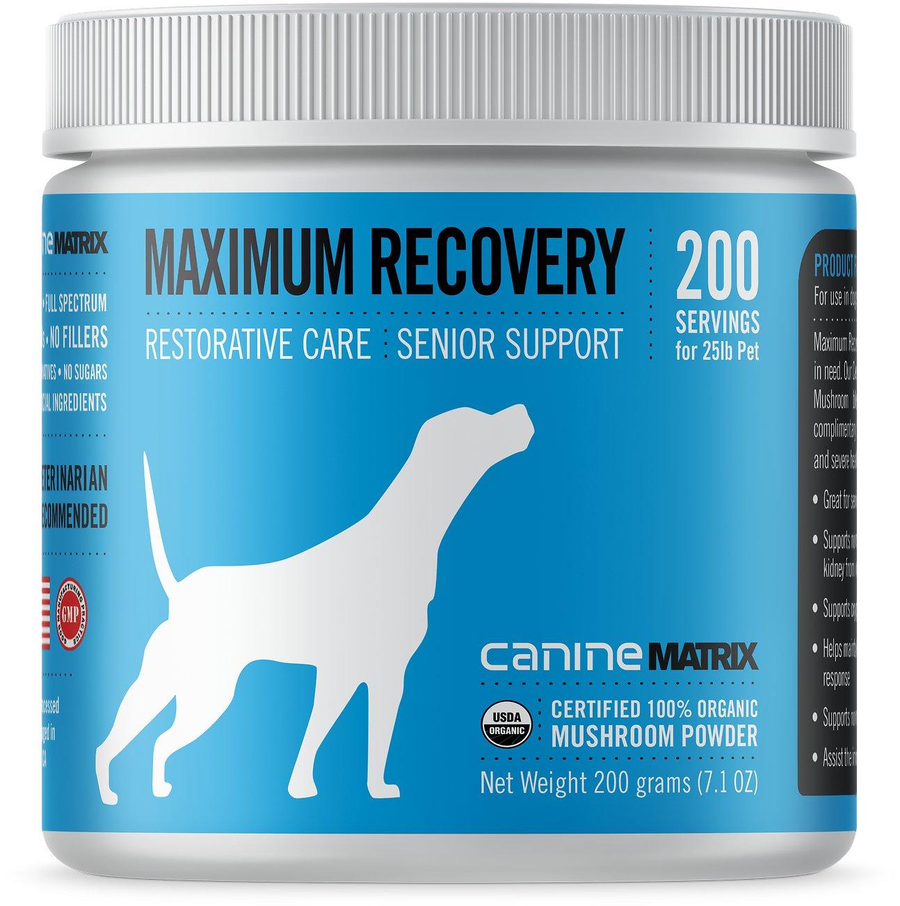 Canine Matrix Maximum Recovery Restorative Care Senior Support Dog Supplement, 200-g