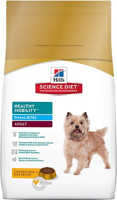 Hill's Science Diet Adult Healthy Mobility Small Bites Dry Dog Food, 4-lb bag