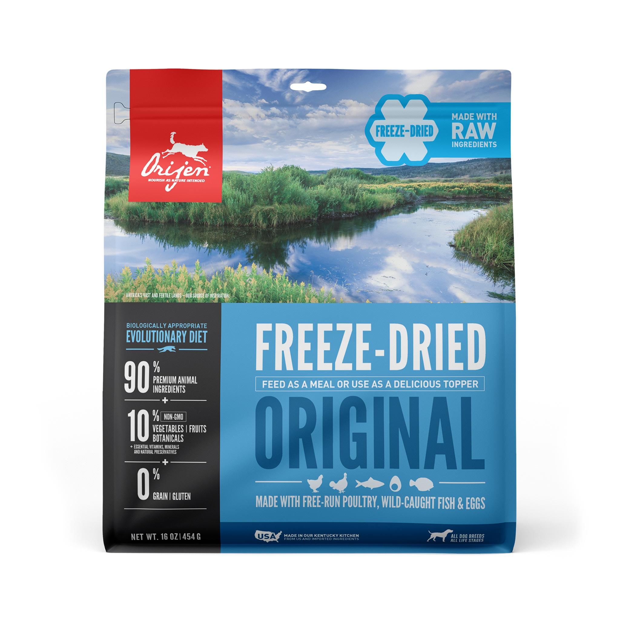 ORIJEN Original Grain-Free Freeze-Dried Dog Food, 16-oz