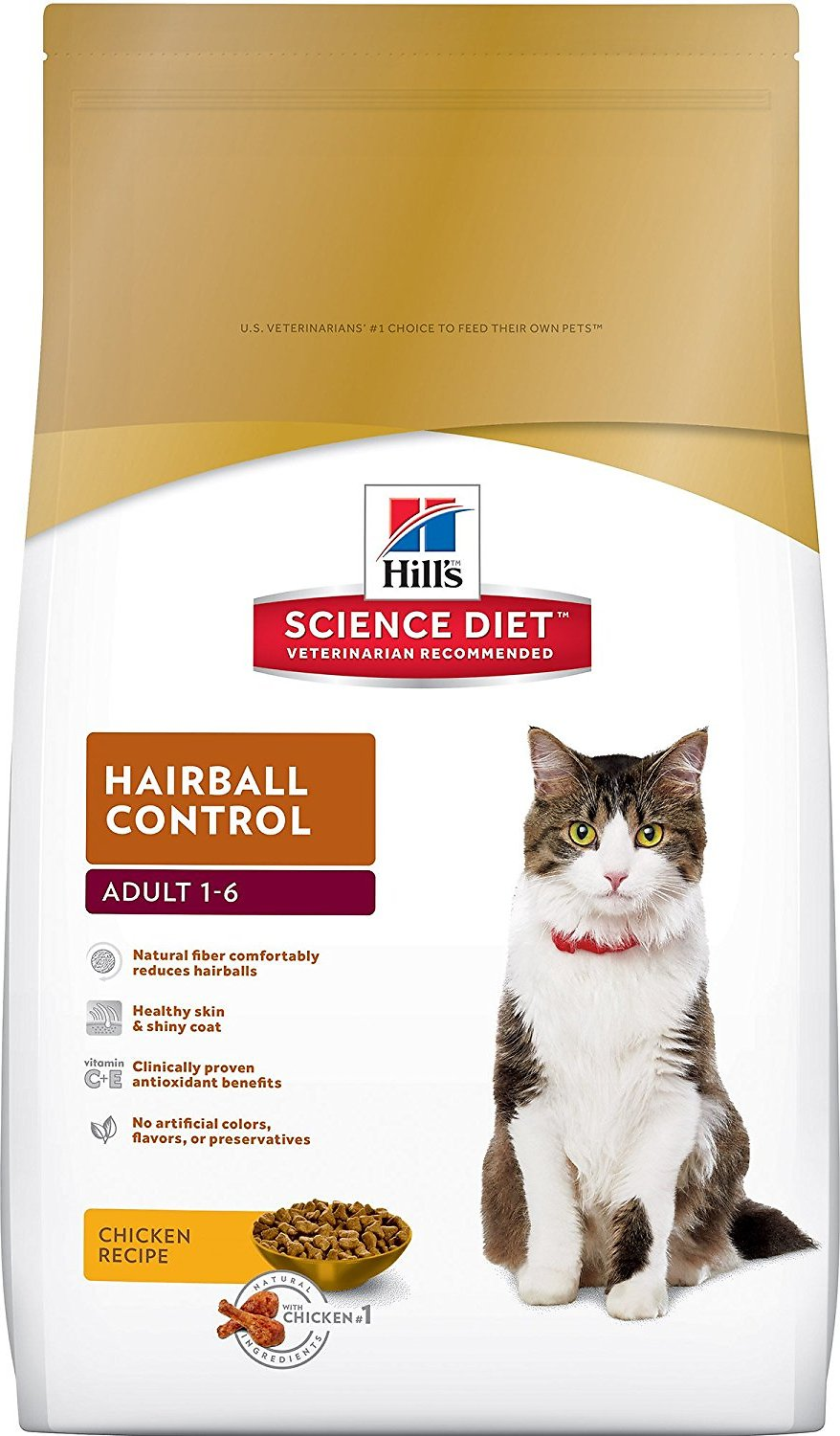 Hill's Science Diet Adult Hairball Control Dry Cat Food Image