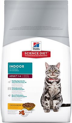 Hill's Science Diet Adult Indoor Cat Dry Cat Food, 7-lb bag